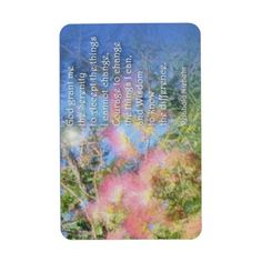 Serenity Prayer Silk Tree Rectangular Magnet