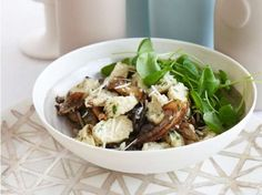 Potato Gnocci with Garlic Butter Mushrooms and Snails