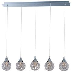 kitchen lighting.//Brilliant Multi-Light Pendant by ET2 Lighting
