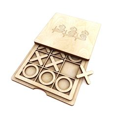 Tic tac toe vector for CNC in svg vector file and for vector cut file, digital vector art,cnc file, cnc pattern, cnc cut Trotec Laser, Laser Cut Wood, Laser Cutting, Laser Art, Wood Laser Ideas, Cnc Cutting Design, Laser Cutter Ideas, Laser Cutter Projects, Cnc Woodworking