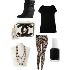 Animal Print leggings, i wish i could pull this off