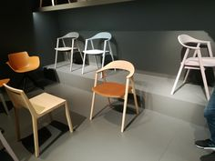 My chair KARM at the Salone del Mobile Softline1979 hall 10. New colours and upholstrering.