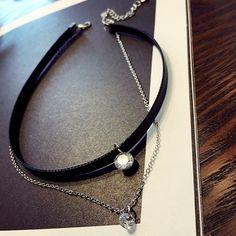 Graceful Layered Rhinestone Choker Necklace For Women #men, #hats, #watches, #belts, #fashion