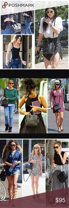 Nano Shoulder Bags *COMING SOON* Celine Nano Shoulder *INSPIRED* Bags. As seen on celebrities such as Emma Roberts, Kylie Jenner, Kendall Jenner, Nicky Hilton, Rihanna, Rashida Jones, Vanessa Hudgens, Ashley Tisdale and more!! The dimensions of this bag are  13.38 x 4.33 x 9.48 inches. Note: I will only have BLACK in stock, if you are interested in the Electric Blue, Hot Pink or Beige please let me know :) Bags Shoulder Bags