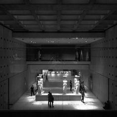 Acropolis museum, lights, reflections, architecture, Athens