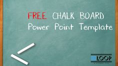 Free Template Power Point PPT Chalk Board