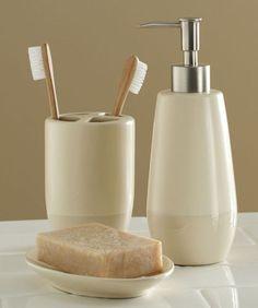 cream bathroom accessories set. Elegant Glistening Ceramic Cream Bath Accessory Set Bathroom Decor  eBay brown and cream bathroom accessories My Web Value