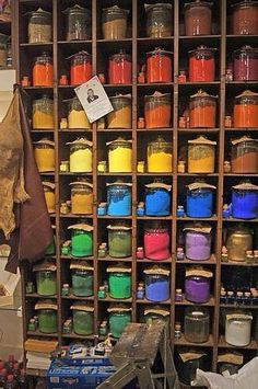 Pigments on display in a Venetian art supply / grocery store. Arcobaleno - Pigmenti Pigments on display in a Venetian art supply / grocery store. World Of Color, Color Of Life, Creation Art, Color Theory, Art Studios, Ikon, Rainbow Colors, Color Inspiration, Art Supplies