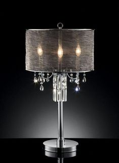 "32"" H Table Lamp with Drum Shade"
