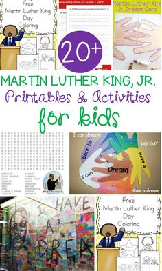 Learn all about Martin Luther King, Jr. in the classroom with this collection of Martin Luther King, Jr. Activities for kids!