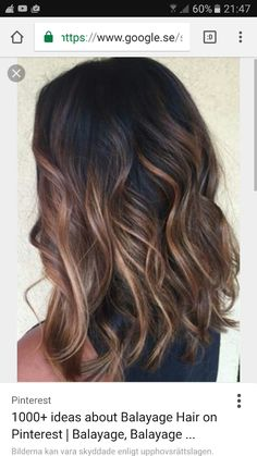 we'd like to show the most 10 hottest caramel balayage hair ideas for brunettes, let's have a look.These are some of our favorite caramel balayage balayage hair ideas to inspire you! Hair Color Balayage, Hair Highlights, Balayage On Black Hair, Brown Highlights On Black Hair, Color Highlights, Ombre On Black Hair, Medium Balayage Hair, Asian Balayage, Hair Colour