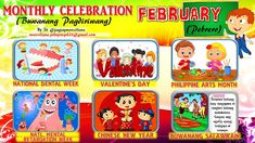 2018 Monthly Celebration with Monthly Motto February Classroom Rules Poster, Classroom Bulletin Boards, Bullying Bulletin Boards, Monthly Celebration, School Border, Cvce Words, Math Crafts, Bulletin Board Display, Beginning Reading