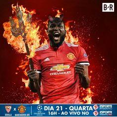 Graças aos dois gols de Romelu Lukaku, o Manchester United se classificou para as quartas de final da The Emirates FA Cup! Será que o belga já se adaptou a Manchester? 🤔 Arte: @brfootball 🔥