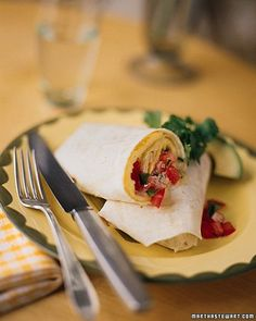 Omelet Burrito with Jack Cheese and Tomato Salsa Recipe