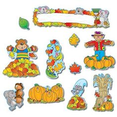 Amazon.com : Carson Dellosa Fall Bulletin Board Set (110047) : Themed Classroom Displays And Decoration : Office Products