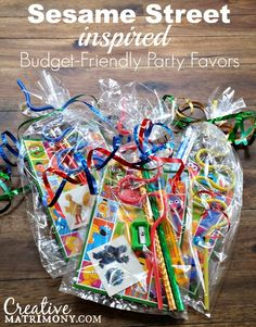Sesame Street Birthday Party Favors on a Budget