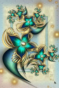 fractal art: TheGoldenParadiseby=coby01