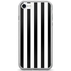 Black And White Stripes iPhone 7/7 Plus Case (£16) ❤ liked on Polyvore featuring accessories and tech accessories