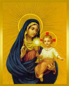 """Mary, Mother of the Eucharist — She is the model of Eucharistic Life, who teaches us to listen and keep the Word of God (Christ), so that we can later be and do all that the Father wants and desires of us. """"Behold, I am the handmaid of the Lord. May it be done to me according to your word"""" (Lk 1:38). To listen to the Virgin Mary is to love and obey God, she imprints in the heart of the pilgrim, """"Do whatever he tells you"""" (Jn 2:5)."""