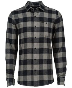 8e691e56966 Volcom Echo Check Flannel Long-Sleeve Shirt Casual Button Down Shirts