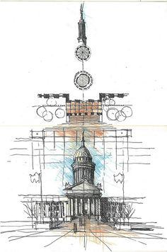 Oklahoma State Capitol - Composite Drawing