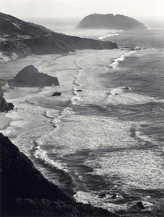 It is impossible to say how much I love this photograph. (Ansel Adams - Point Sur Storm)
