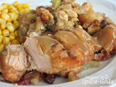 Slow Cooker Turkey with Stuffing- I tried it with Chicken Breasts! Very Nice.