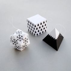 Winter themed decorations to cut, fold & stick.