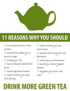 Muchas razones para beber TÉ VERDE!