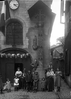 La chapelle Saint-Aurélien, rue de la Boucherie, 1914. Photo Jean-Baptiste Boudeau. Bfm Limoges