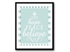 Instant Download  Joy Hope Peace Believe  by FoxyCoutureDesigns, $6.00