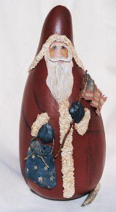 Gourd Santa by Linda Noblitt