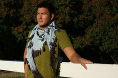 Tribull Unisex Scarf in Light Blue. #tribull #tribullscarves #scarf #blue #winter #love