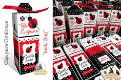 Cajas para Cotillones Infantiles Personalizados (Mariquitas, Lady Bug) | Lythium Art® Design by: Yil Siritt