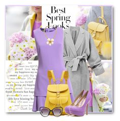 """Spring Purple & Yellow"" by brendariley-1 ❤ liked on Polyvore featuring H&M, Boutique Moschino, Grafea, Qupid, Betsey Johnson, Erdem, Spring, purpleandyellow and galantgirl"