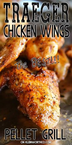 Break out your Traeger, these Pellet Grill Chicken Wings are out of this world. - Break out your Traeger, these Pellet Grill Chicken Wings are out of this world. So easy to make, pe - Smoke Chicken Wings Recipe, Smoked Chicken Wings, Traeger Chicken Wing Recipe, Traeger Smoked Wings Recipe, Traeger Recipes, Grilling Recipes, Smoked Chicken Recipes, Shrimp Recipes, Salad Recipes