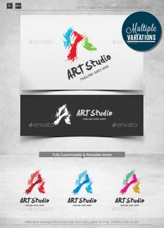 Art  Logo Template — Vector EPS #artistic brush #A logo • Available here → https://graphicriver.net/item/art-logo-template/10024281?ref=pxcr
