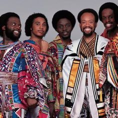 One of my all-time favourite groups.Earth, Wind & Fire or EWF, is an American band that has spanned the musical genres of R&B, soul, jazz, pop, rock, funk, disco, latin, african and gospel.Founded by Maurice White in Chicago in 1969.During their classic period 1973-1980,they produced hit after hit.Here's a taster of some of their biggest hits on Youtube:                         http://www.youtube.com/watch?v=Gs069dndIYk&list=RDHCYclVHCJscms