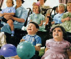 Children watching TV, 1950s