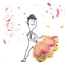 Creatively Cute Pencil Shaving Art by Marta Altés, art, drawing, sketch,Pencil Shaving, pencil shaving art, dance, dancer, flamenco dancer, bull, matador