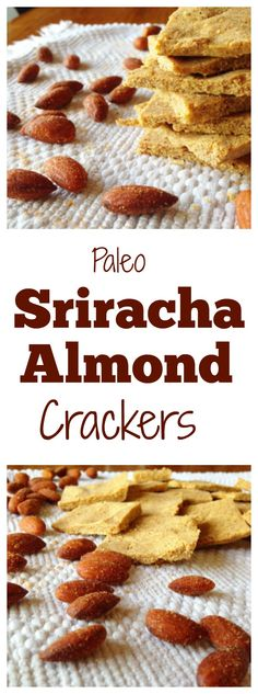 #healthy Paleo Sriracha Almond Crackers! Such a tasty snack! Made with @bluediamondalmonds! #paleo #vegan #ad