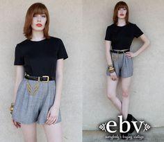 #Vintage #90s #Black & #White #Shorts #Romper XS S by shopEBV http://etsy.me/11HFzfa via @Etsy #etsy #shopEBV by shopEBV on Etsy, $32.00