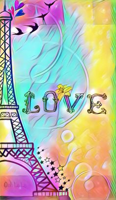 Colorful eiffel by Rose