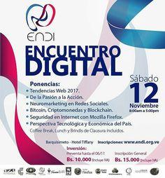 @Regrann_App from @umbralweb -  Con el objeto de brindar a todos los empresarios y emprendedores de #Barquisimeto y #Venezuela herramientas que les permitan estar a la vanguardia en el desarrollo de las nuevas tecnologías nace el Encuentro Digital ENDI 2016 el cual brindará a los asistentes la oportunidad de disfrutar de ponencias de primer nivel así como crear alianzas estratégicas para impulsar la iniciativa empresarial y emprendedora.  Te esperamos el próximo Sábado 12 de Noviembre de…