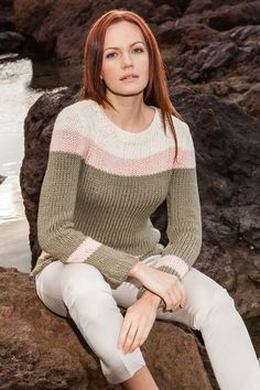 Lana Grossa TAILLIERTER PULLOVER 365 Cashmere - ALL SEASONS 365 No. 1 - Modell 2 | FILATI.cc WebShop