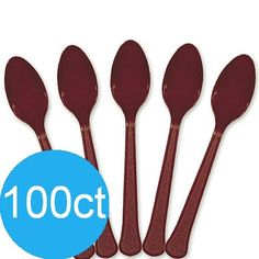 Berry Plastic Spoons | 100ct for $6.47 in Party Tableware - Party Supplies