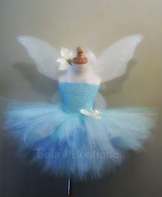 READY TO SHIP Periwinkle Tutu Costume Set - 12 inch Skirt - Secret of the Wings Halter Straps Tinkerbell Fairy Pixie Hollow  Disney