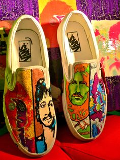 BEATLES SHOES. Love these. Must paint a pair.