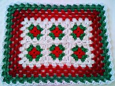 Blanket, Squares, Holiday Crochet, Crochet Flowers, Crochet Dresses, Crochet Stitches, Towels, Crochet Edgings, Needlepoint
