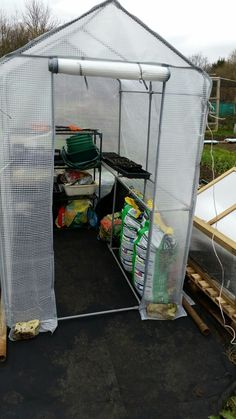 Replacement greenhouse up running just in time for some more sowings over the next couple of weeks. #allotment
